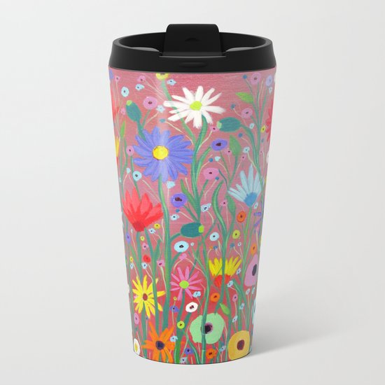 Flowers-Abstracts  Metal Travel Mug