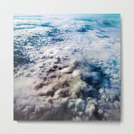on the churning sea of clouds Metal Print