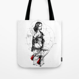 Love and Geometry. INK ART. Yury Fadeev Tote Bag