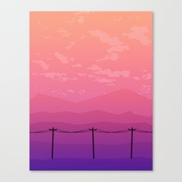 Follow the Telephone Poles Canvas Print