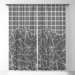 Ab Big Grid Sheer Curtain