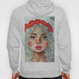 'Girl With Flower Crown' Hoody