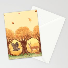 Sunny Forest Stationery Cards