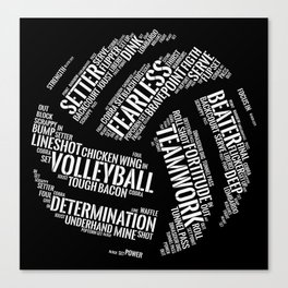 Volleyball Wordcloud - Gift Canvas Print