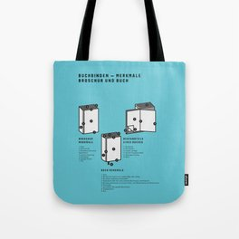 Buchbinden – Merkmale Broschur und Buch (in German) Tote Bag