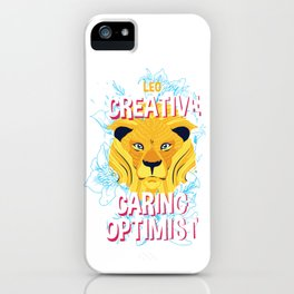 Leo Zodiac Horoscope Lion Spirit Animal iPhone Case