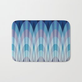 Sea blue and soft pink waves Bath Mat