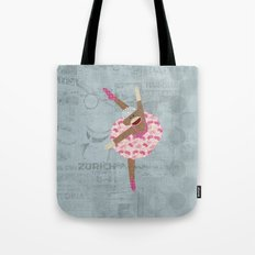 Sock Monkey Ballerina Tote Bag