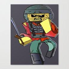 Eddie the Starship Trooper - Minecraft Avatar Canvas Print