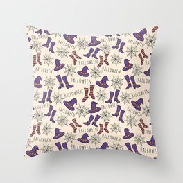Cute Halloween Pattern Throw Pillow