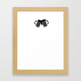 do i want beer - I love beer Framed Art Print