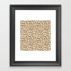 Leopard spots animal pattern print minimal basic home decor safari animals Framed Art Print