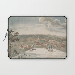 Vintage Pictorial Map of Baltimore MD in 1752 Laptop Sleeve