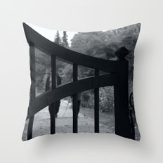 Coming towards You behind the gates of nature Throw Pillow