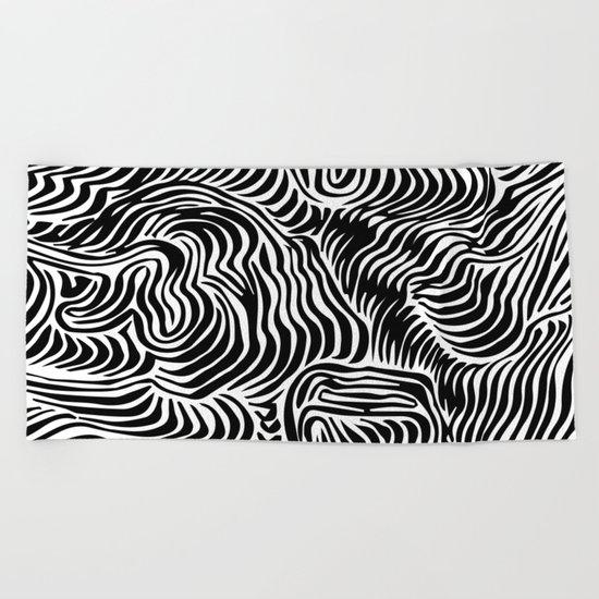 black flow Beach Towel