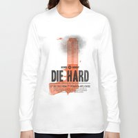 die hard Long Sleeve T-shirts featuring Die Hard (Full poster variant) by aWharton
