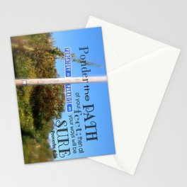 Proverbs 4:26 Stationery Cards