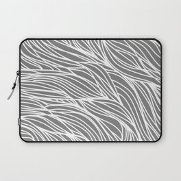 Gray Wave Lines Laptop Sleeve