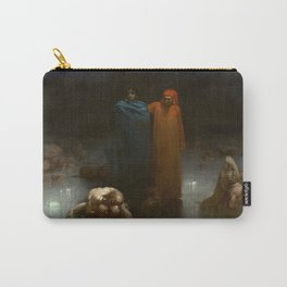 Gustave Doré - Dante And Virgil In The Ninth Circle Of Hell Carry-All Pouch
