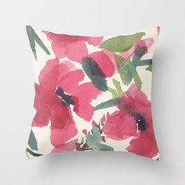 Red Poppy Dance Throw Pillow
