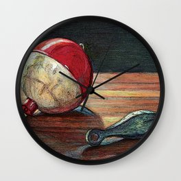Bobber and Sinker by KPC Studios Wall Clock