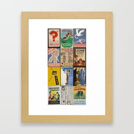 PublicHealthPosters2 for SeatCovers Framed Art Print