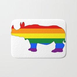 Rainbow Rhinoceros Bath Mat