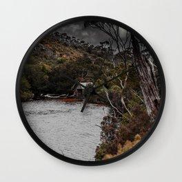Hut by the Lake Wall Clock
