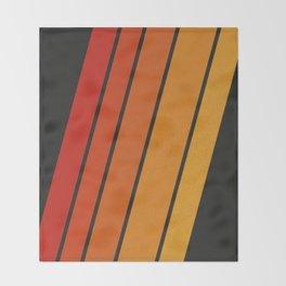 Retro 70s Stripes Throw Blanket