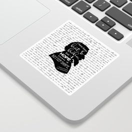 Into a Better Shape - Dickens (B&W Large) Sticker