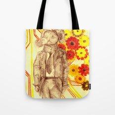 Steampunk Ram Tote Bag