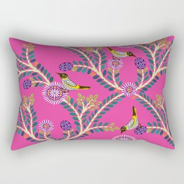 New Holland Honey Eaters and Showy Honey Mirtle Rectangular Pillow