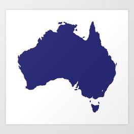 Australia Silhouette Art Print