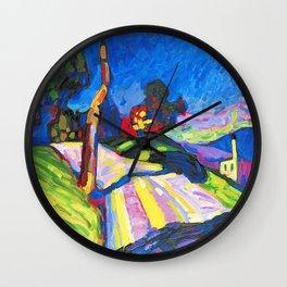 Wassily Kandinsky - Murnau - Kohlgruberstraße Wall Clock