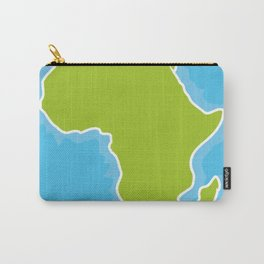 map of Africa Continent and blue Ocean. Vector illustration Carry-All Pouch