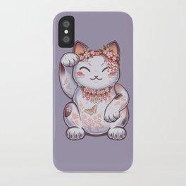 Hanami Maneki Neko: Shun iPhone Case