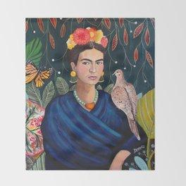 Frida et sa nature vivante Throw Blanket