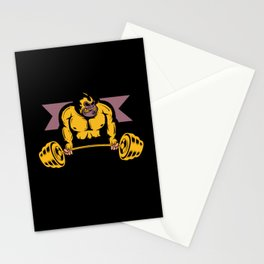 Gorilla Strength Weight lifter Gym Body Builder Stationery Cards