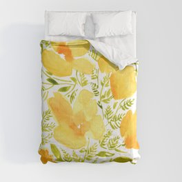 Watercolor California poppies (Quad set, #2) Comforters