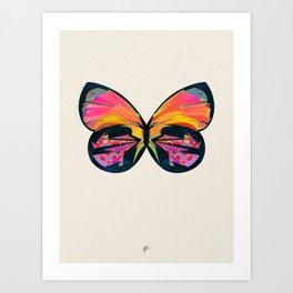 Retro Fly 1 Art Print