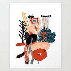 CAMERA GIRL Art Print