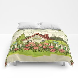 The House At The End Of Storybook Lane Comforters