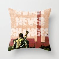 fallout Throw Pillows featuring Fallout 3 by Dayle Kornely