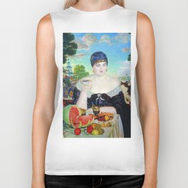 MERCHANT'S WIFE AT TEA - BORIS KUSTODIEV Biker Tank