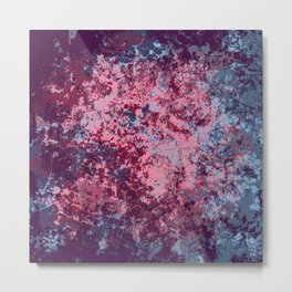 Bidin - Abstract Bohemian Camouflage Tie-Dye Style Art Metal Print