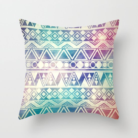 Tribal Orbit Throw Pillow