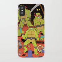 foo fighters iPhone & iPod Cases featuring TURTLES FIGHTERS - REVENGE by Jack Teagle
