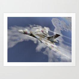 Avro Vulcan XH558 Art Print