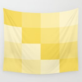 Four Shades of Yellow Square Wall Tapestry