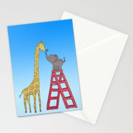 Uneven height love Stationery Cards